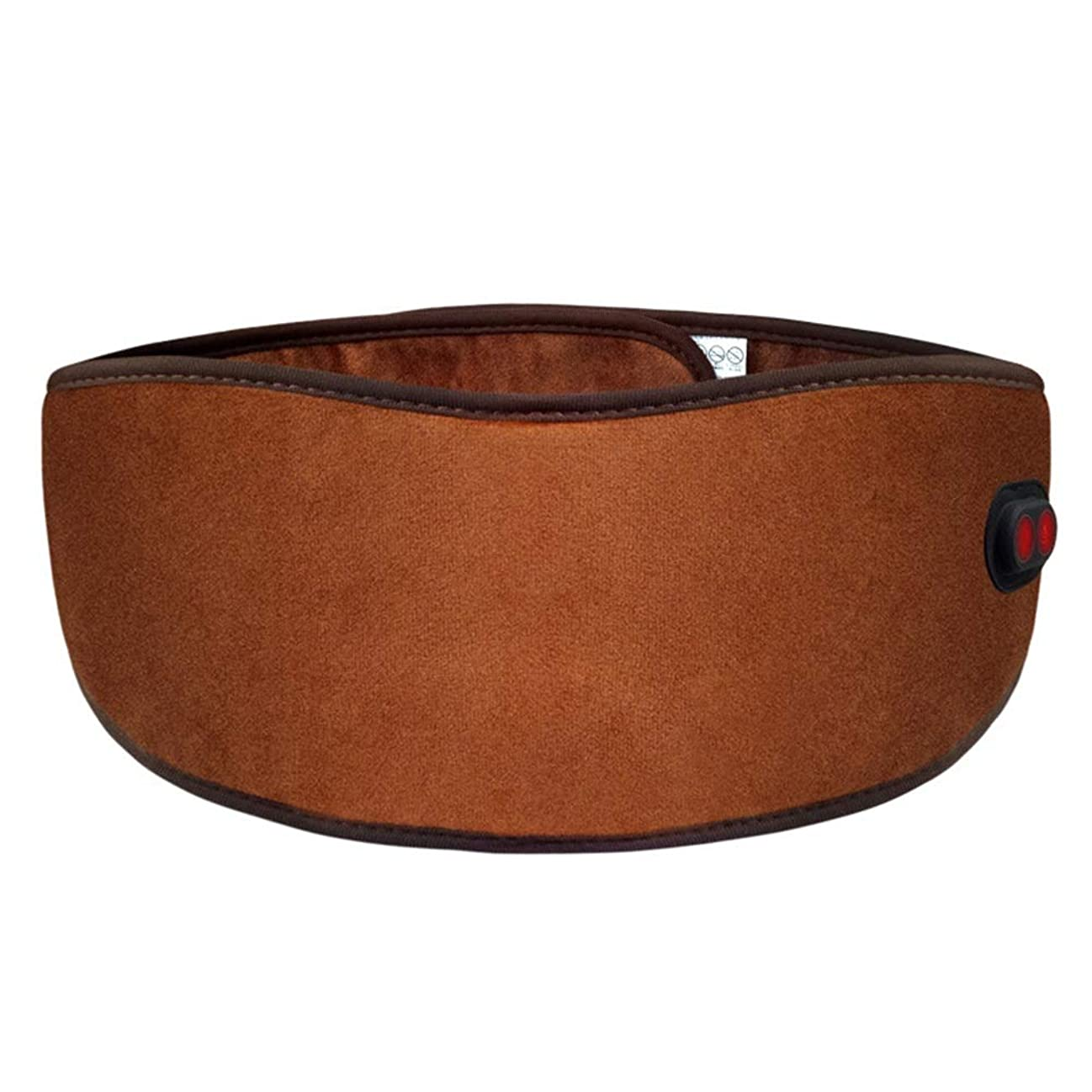 着る修正生む腰関節炎腹部の痛みを軽減するためにウエストマッサージベルト腰椎ヒートベルトラップで振動を加熱すると、男性と女性にフィット 腰痛保護バンド (色 : 褐色, サイズ : Free size)