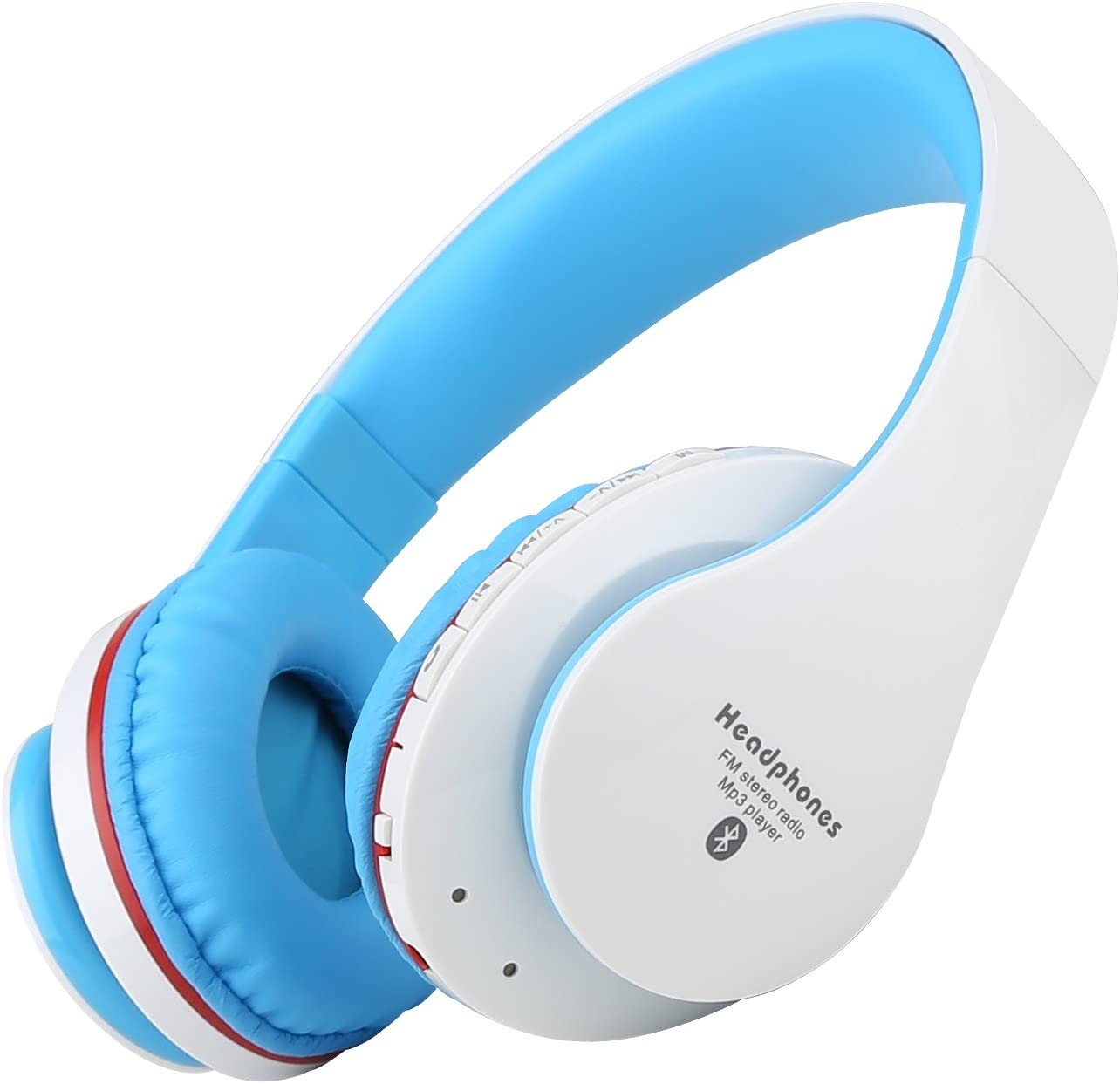 Bluetooth Headphones, Sound Intone Nk850 Wireless Headset with Microphone, Music Headphones with Adjustable Headband for Sporting, Traveling, Compatible with Cellphone, Laptop,pc,tablet (White/blue)