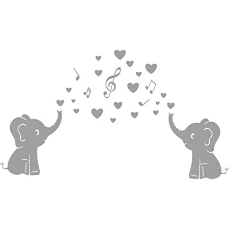 Music Bdecoll Eléphant Stickers Muraux Autocollants De Bricolage Décoration Bébé Mur Autocollants,Stickers muraux bébé Chambre Decor enfants Chambre Stickers Muraux
