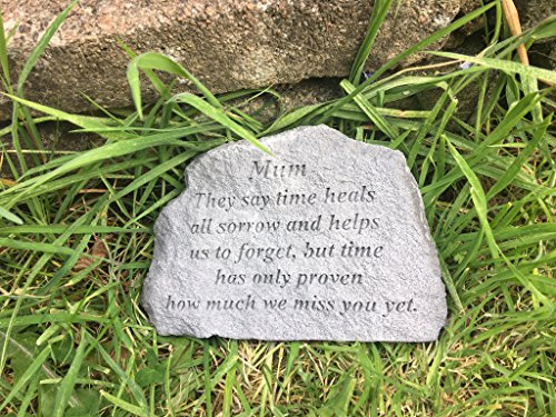 Maman ils Disent que temps Guérit Memorial Verse Pierre 16 x 11 cms