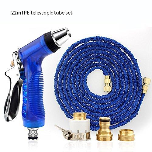 Télescopique Pistolet d'eau de lavage à haute pression Tuyaux de conduite d'eau domestique Outils d'arrosage à pression Rush to take Buse de vapeur de tuyaux Tube de TPE bleu (taille facultative) Quat