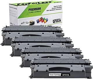 PayForLess Compatible 53A Q7553A Toner Cartridge Black 4PK for HP Laserjet P2014 P2015 P2015d P2015dn M2727nf