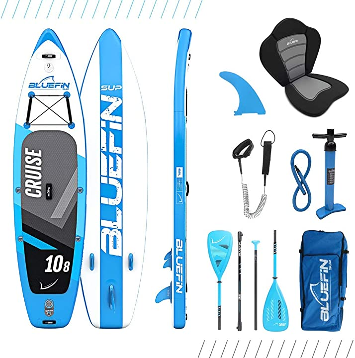 Bluefin pacchetto per cruise sup | tavola gonfiabile da stand up paddle | pagaia in vetroresina B06VXZG6H1