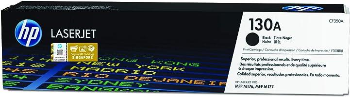 HP 130A CF350A, Negro, Cartucho Tóner Original, de 1.300 páginas, para impresoras HP LaserJet Pro MFP M176n y MFP M177fw