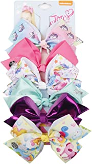 Newtrend Everydays 4.5inch Jojo Bows in Printed Grosgrain Ribbon Girls Hair Accessories With Alligator Clip For Teens Girls