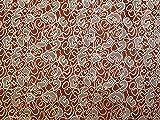 Minerva Crafts Abstrakter Brokat-Stoff, gewebt, metallisch,