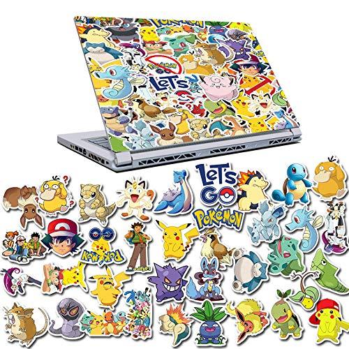 DSSJ 50 Pokemon Cute Children Cartoon Stickers Helmet Computer Water Cup Trolley Case Stickers Decorative Waterproof