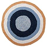 Sebra Alfombra de Crochet Alfombra Infantil de algodón Redondo de 120 cm de diámetro a Medianoche/Vainilla