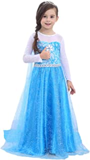 Fishkidtail Princess Costume Dress for Girls Princess Dress Snow Queen Party Birthday Clothes for Toddler