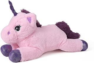 Dolphienshow Unicorn Stuffed Animal Pink Unicorn Plush Toy for Girls,15 inches