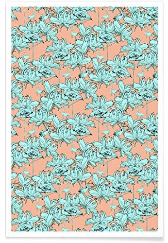 Juniqe® Affiche 60x90cm Flamants Roses Motifs - Design Ragno Modulo 1\