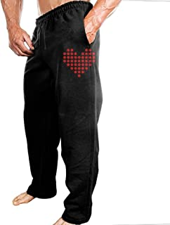 Sweatpants Heart Jogger Pants With High-quality 100% Cotton For Daily Leisure Life Home Decoration