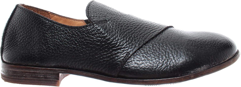 MOMA Damen Schuhe Slip On 43804-Y2 Leder Schwarz