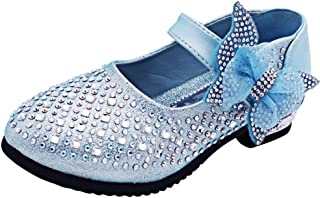 YING LAN Little Big Girl Glitter PU Leather Mary Jane Shoes