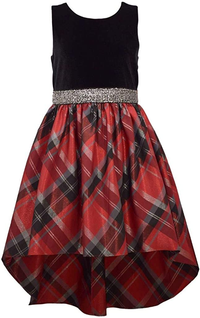 Bonnie Jean Girl's Holiday Christmas Dress Black Plai Red - NEW before selling ☆ Max 83% OFF 7-16