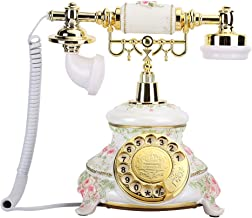 $104 » T osuny Retro Telephone, Rotating Dial Antique Telephones,Country Style Vintage Landline Fixed Desk Phone,for Desks/Living...