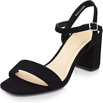 Lukex Women's Chunky Heeled Sandals