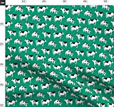 Kuh, Bauernhof, Tier, Wasserfarben, Kinderstoff Stoffe -