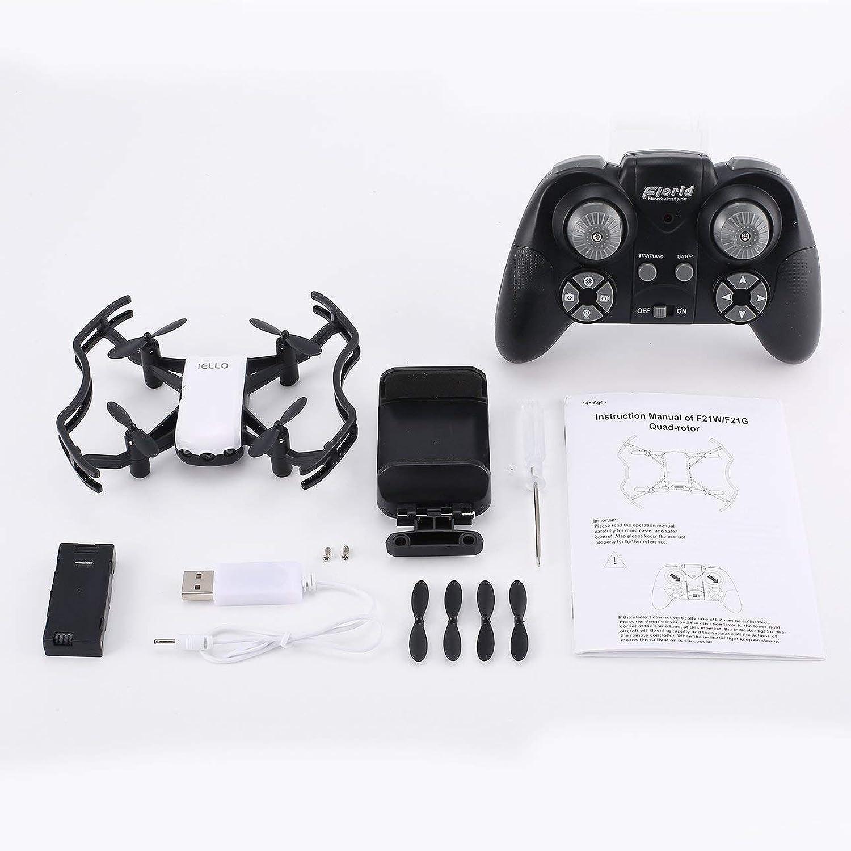 Pudincoco F21G 2.4G RC Mini Quadcopter Drone con 720P HD WiFi telecamera Flusso Posizionamento Gesto Altitude Hold Gesto in modalità Senza Testa