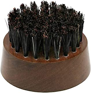 Prettyia Pocket Beard Brush – Fiber with Wood Handle - Best Beard and Skin Care for Men and Beard Grooming – Pocket Size and Travel - Brown