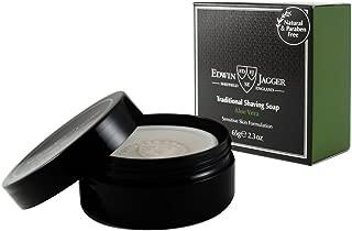 Edwin Jagger 99.9% Natural Traditional Shaving Soap In Travel Tub - Aloe Vera, 2.3-Ounce