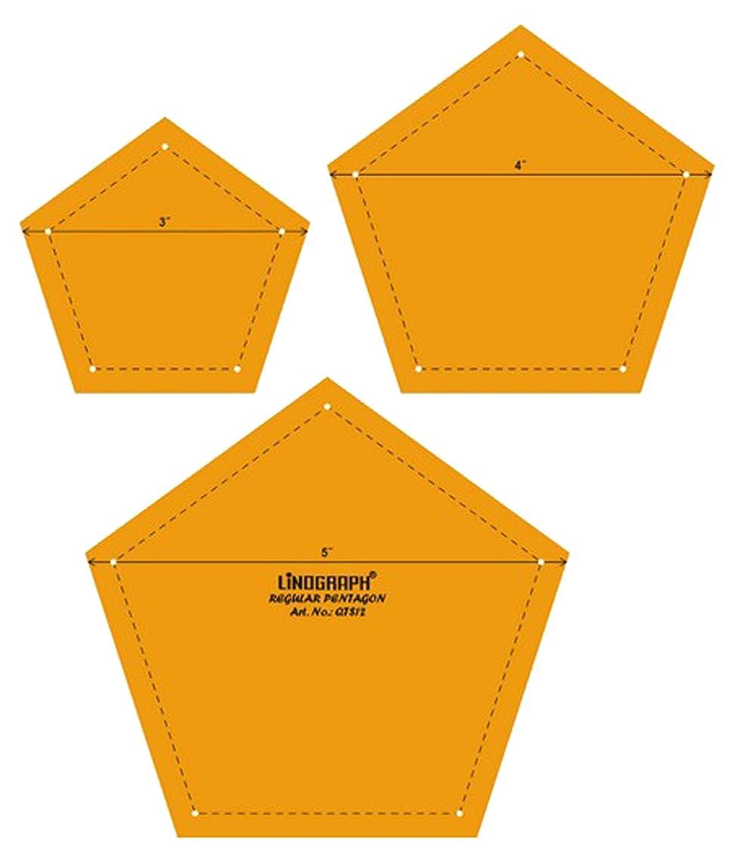 Pentagon Quilting Patchwork Shape Scale Template Set of 3 Pcs
