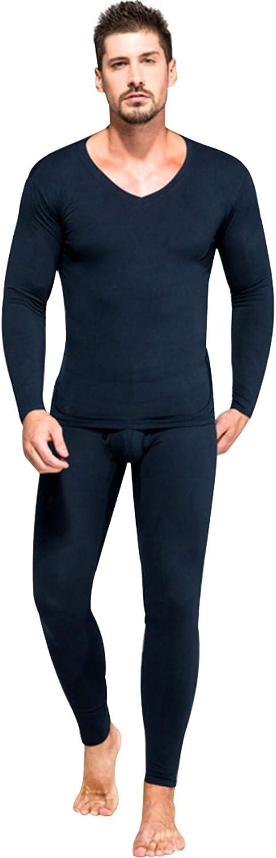 newrong Men's Modal Thermal Underwear Set Shirt&Leggings