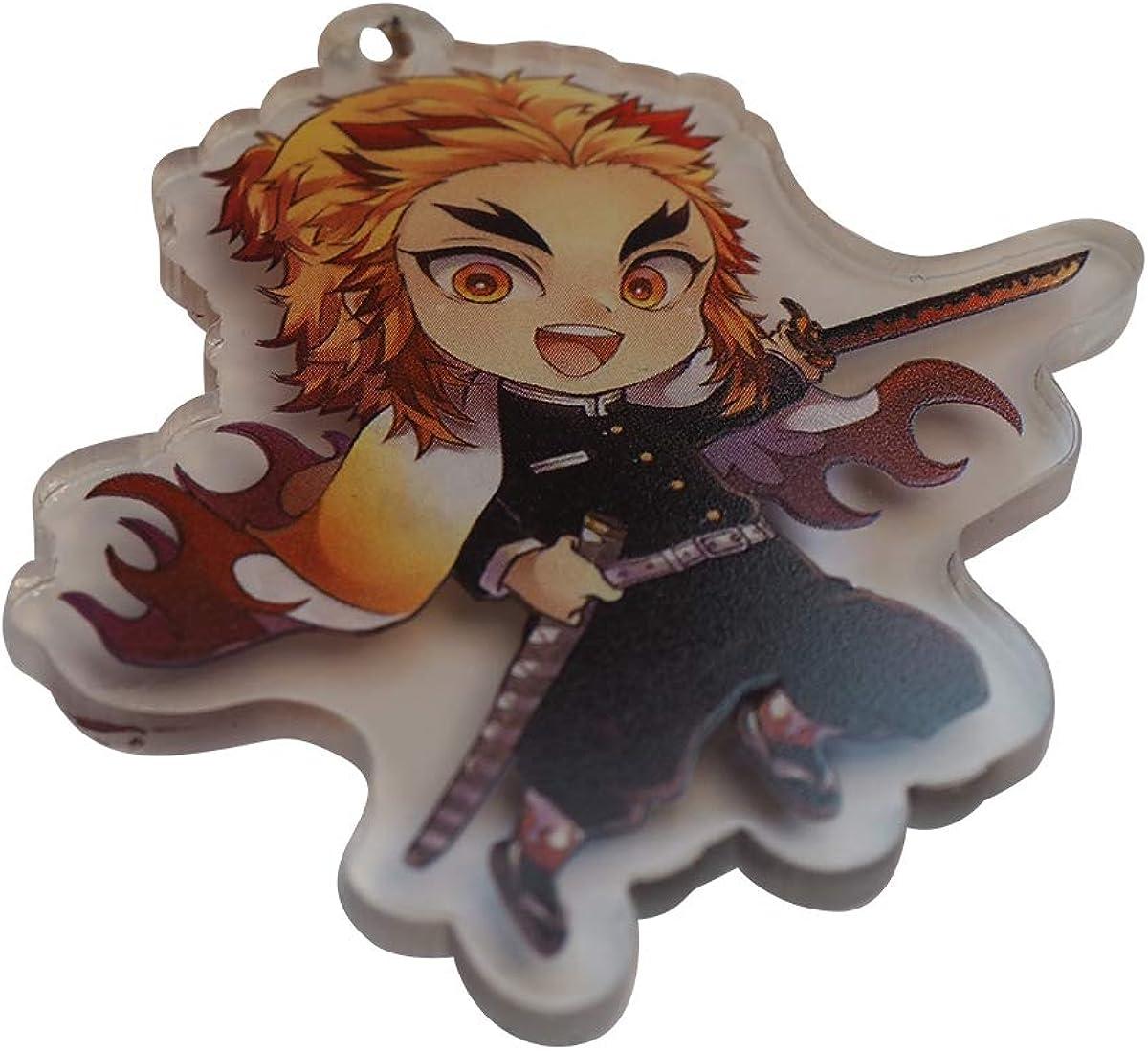 Anime Demon Slayer Keyring Rengoku Kyoujurou Acrylic Keychain