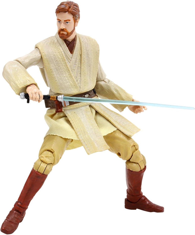 Hasbro Action-Figur  schwarz    10 Star Wars Obi-Wan Kenobi 6 Zoll Plastik gemalt Action-Figur