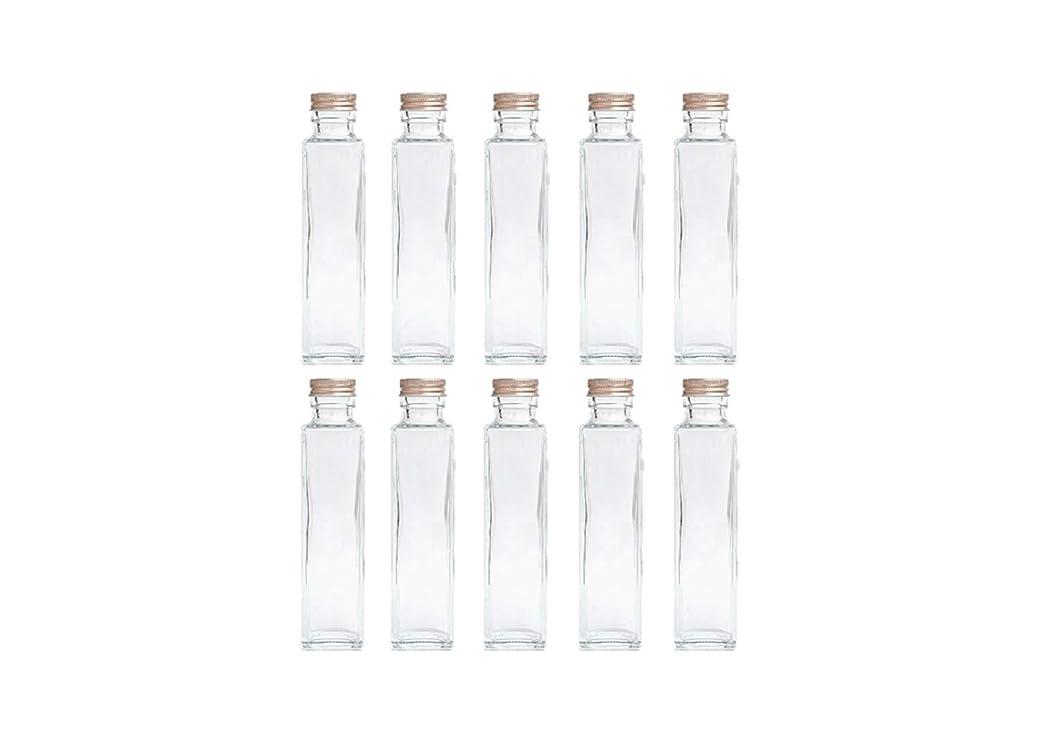 輝く地元添加剤HULALA ハーバリウム用ガラス瓶 日本製 10本セット (角型 150ml)