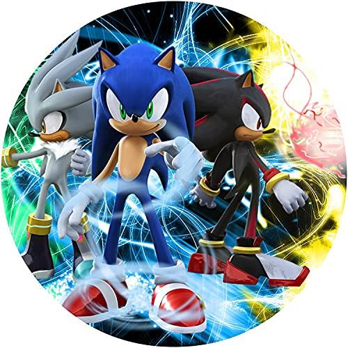 Sega Sonic Runde Tortenaufleger