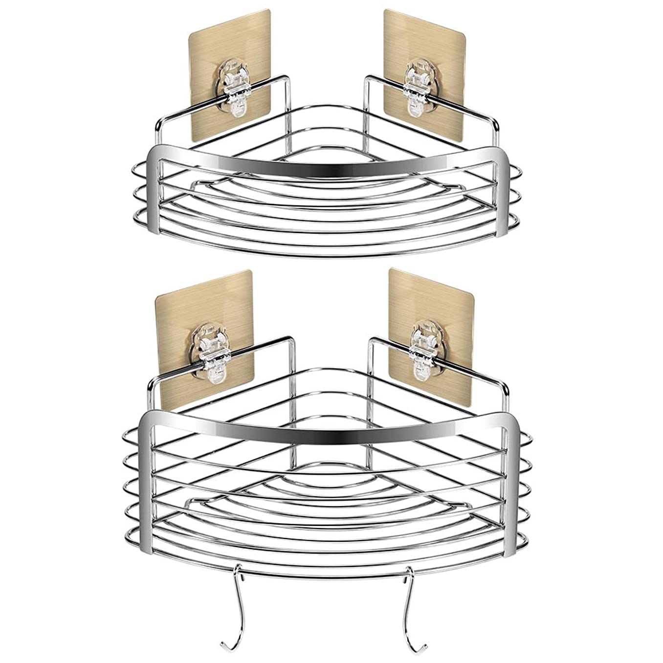 電子レンジ雨の放散する浴室コーナー棚ステンレスシンプルモダンモダンダブル収納スペース取り外し可能な安全