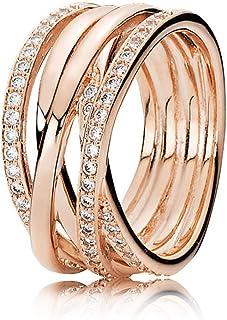 潘多拉女士 - 戒指银色 镀金带 ' - 戒指尺寸52 (16.6) 180919 CZ - 52