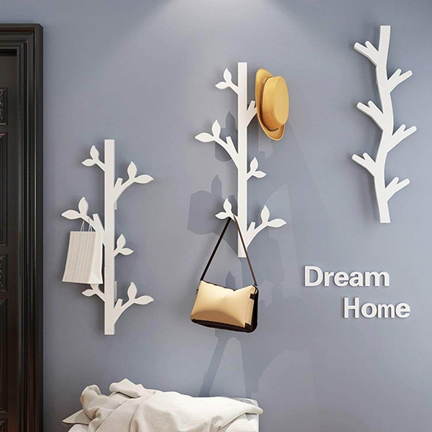 DYR Hanger Creative Hook Up Wall Hanging Wall 78cm Decoration Hanger Entrance Foyer Stable and Durable (color  7)
