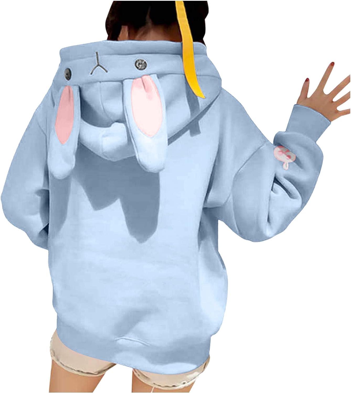 Eoailr Hoodies for Women Teen Girls Bunny Ear Boston Mall New mail order Long Cute F Sleeve