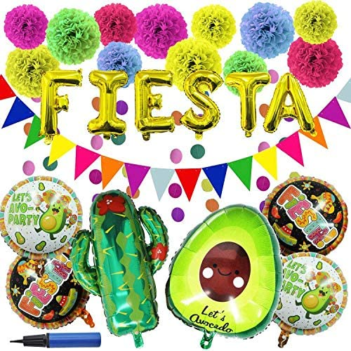 27 PCS Cinco De Mayo Fiesta Cactu Decoration with Time sale Party Supplies Chicago Mall