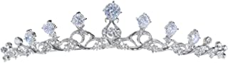 Elegant Rhodium Plated CZ Crystal Celtic Bridal Tiara Crown T1268