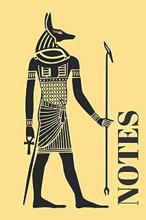 Notes: Carnet de notes - Pharaon - Thème Egypte - Anubis - Cahier personnalisé
