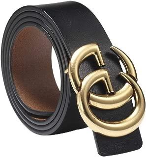 ~FBA USA 2-6 Days Delivery~ Fashion Gold Buckle Women Lady Unisex Leather Belt~3.8cm Belt Width (110cm (Waist 32