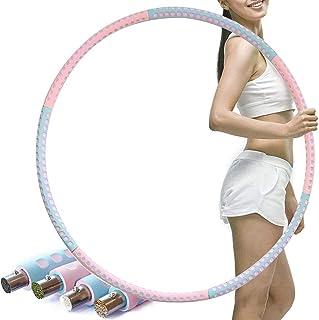 Hoops vuxen rostfritt stål 8 segment avtagbar träningsring 1 2 kg Premium skumvikter Justerbar från 1 2 till 3 kg för fitn...