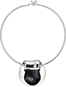 Robert Lee Morris - Black Diamond and Silver Round Wire Necklace