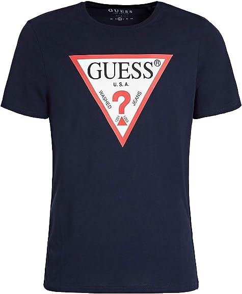 GUESS Camiseta Original Logo Negra Hombre