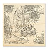 Stampendous House Mouse Squirrel Singers Rubber Stamp