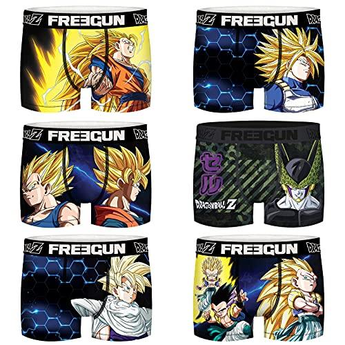 Freegun Herren Boxershorts Dragon Ball Z Super Saiyen, Pack de 6 Dbz7, M