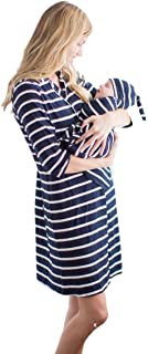 Baby Be Mine Maternity Super Soft Classic Stripe Maternity Nursing Nightwear, Many Options Available