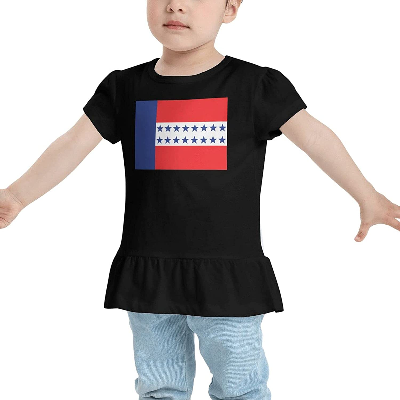 RVSAPK Tuamotu Islands Flag Baby Girl Cotton T-Shirt T-Shirt Dresses