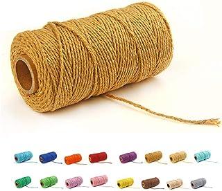 (100 Yards/2mm/19 Colors)100 DIY Macrame Cord Craft Macramé Cotton Baker Twine Craft Making Knitting Cord Rope DIY Wedding...