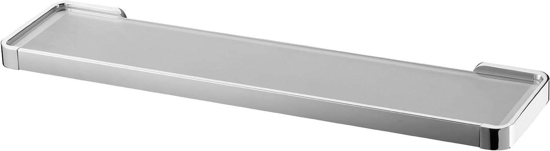 Bisk Natura Frosted Glass Shelf Holder, Chrome