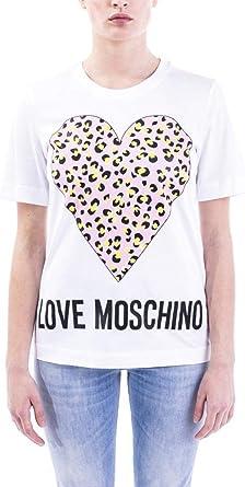 Love Moschino T-Shirt_Animalier Printed Heart Camiseta para Mujer