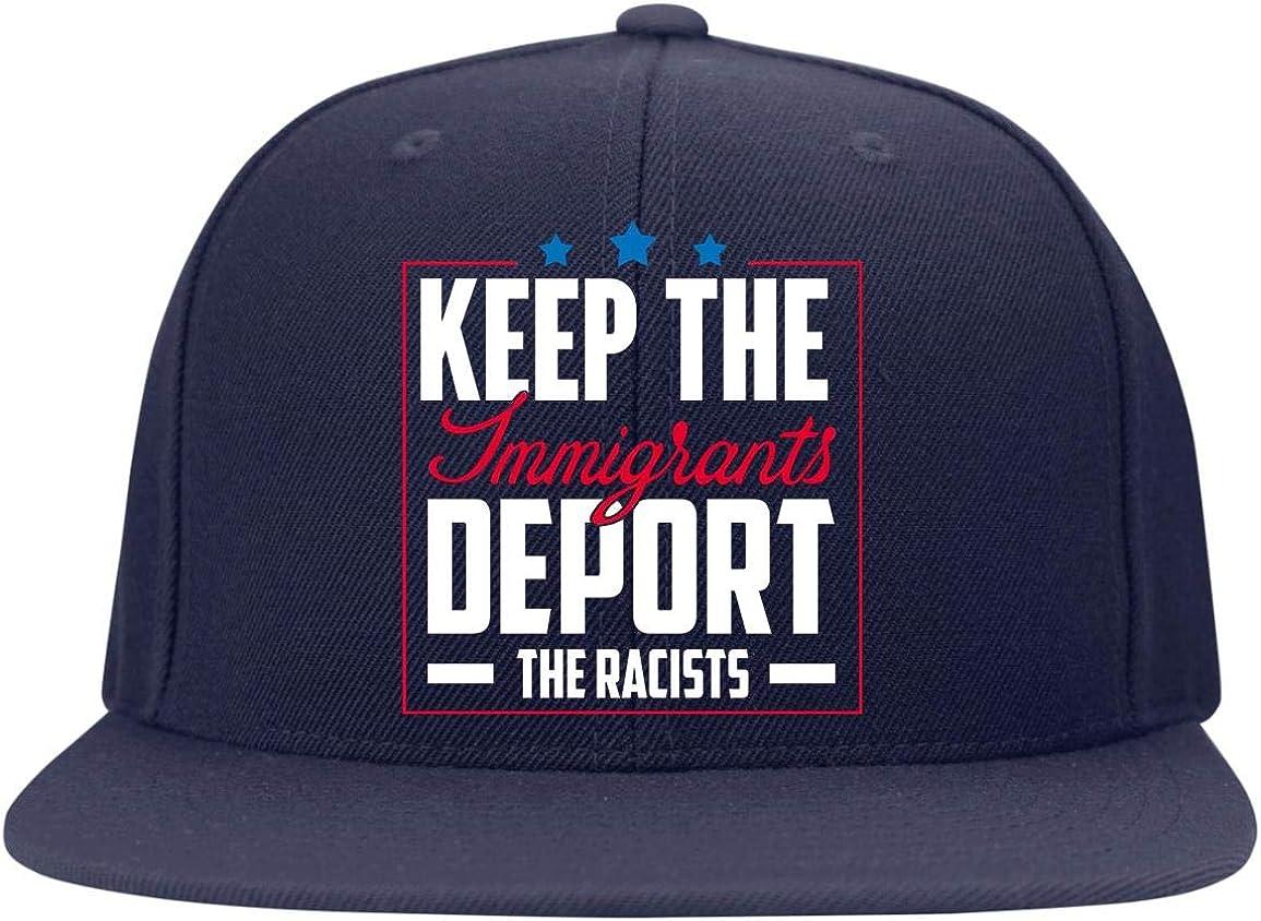 Trucker Hat High-Profile Snapback Hat Huskite Keep The Immigrants Deport The Racists Twill Cap